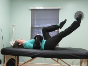 Supine leg extension